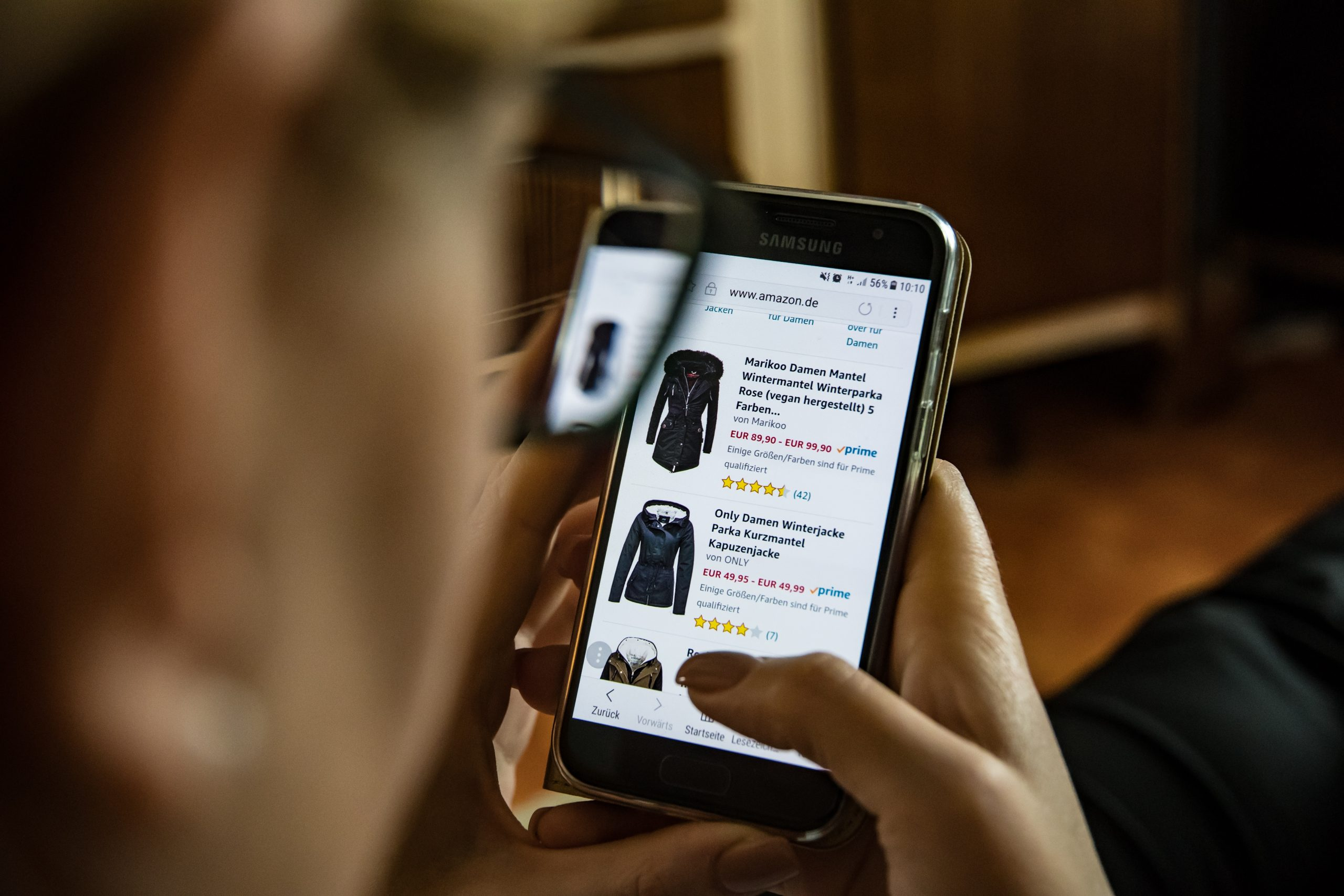 Online shopping op iphone