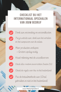 checklist bij internationaal opschalen